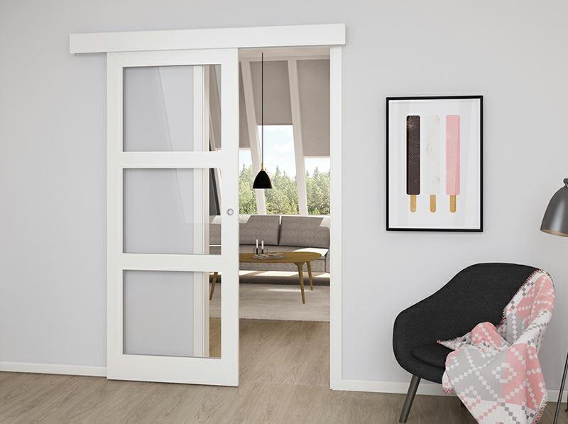 Glat Kompakt Massiv Skyded 248 R Med Kappe Safco Doors
