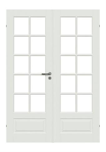 London Dobbelt Massiv Glasdør - Safco Doors